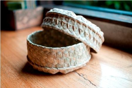 東ティモール 椰子のかご ラファティック